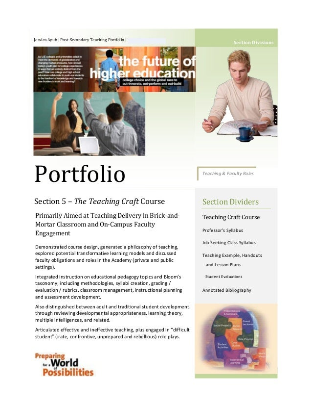 Jessica Ayub | Post-Secondary Teaching Portfolio | 763-258-4502                                                           ...