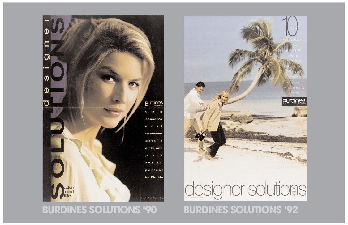 BURDINES SOLUTIONS '90   BURDINES SOLUTIONS '92