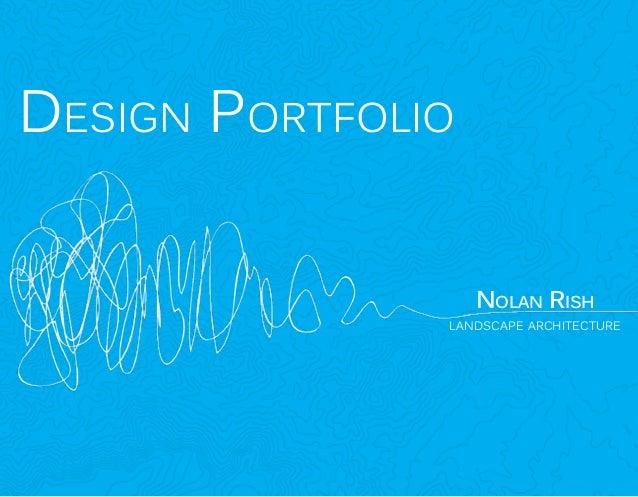 Design Portfolio  Nolan Rish  landscape architecture