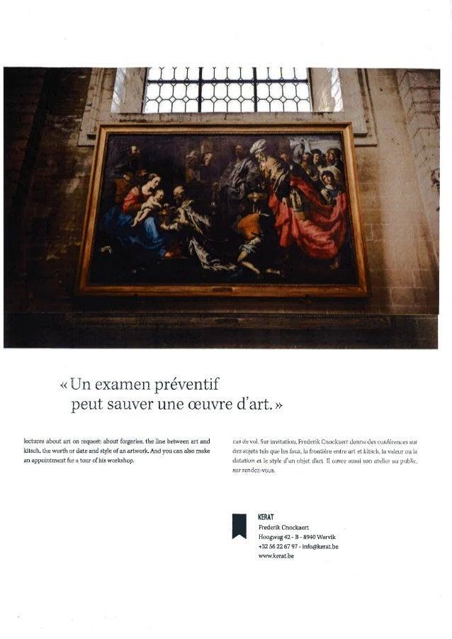 Portfolio frederik cnockaert art restorer restaurateur d'art eng fr