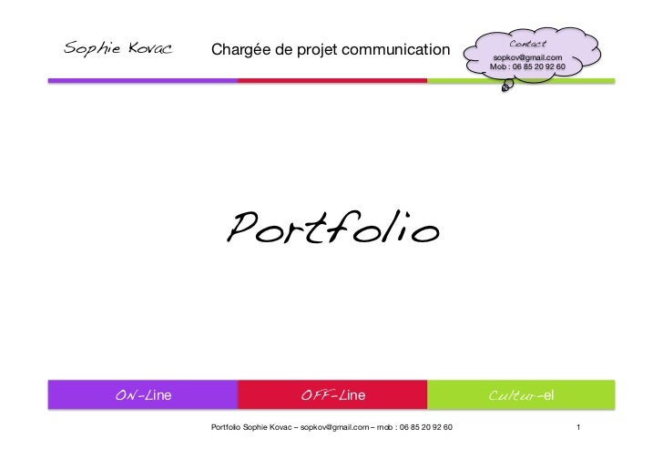 Sophie Kovac   Chargée de projet communication                                                                            ...