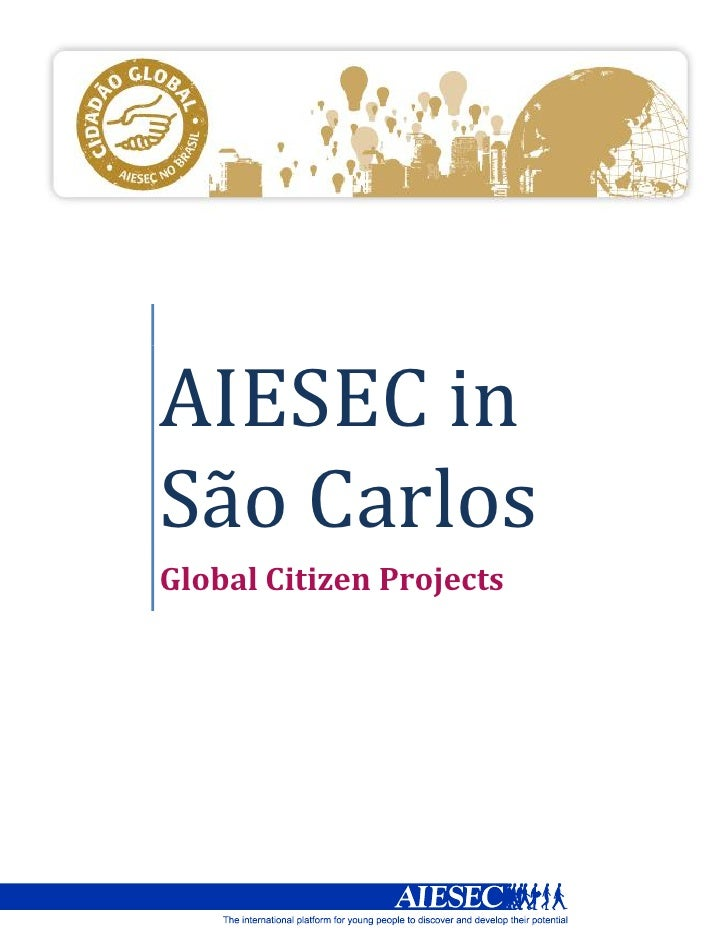 AIESEC inSão CarlosGlobal Citizen Projects