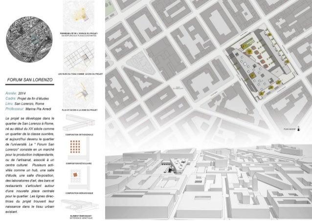 FORUM SAN LORENZO  Alt/ tee 2014  Cadre' Projet de fin zfétudes Lléil San Lorenzo,  Rome Professor/ i' Marina Pia Arredi  L...