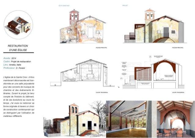 "RESTAURA TION D'UNE ÉGL/ SE  Ali/ rete 2014  Cm ii (a Projet de restauration ima Amelia,  Italia DiOÎDSÙPi/ i"" D.  Fiorani..."