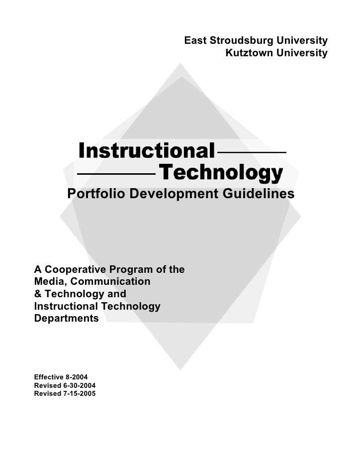 East Stroudsburg University                                    Kutztown University              Portfolio Development Guid...