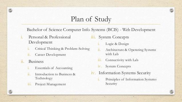 Devry plan of study example