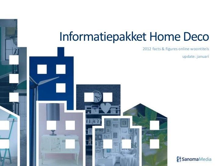 Informatiepakket Home Deco              2012 facts & figures online woontitels                                    update: ...