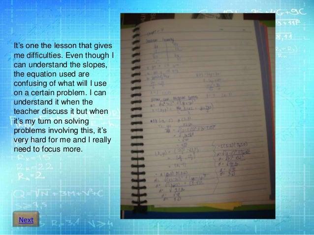 Digital Portfolio in Algebra-X