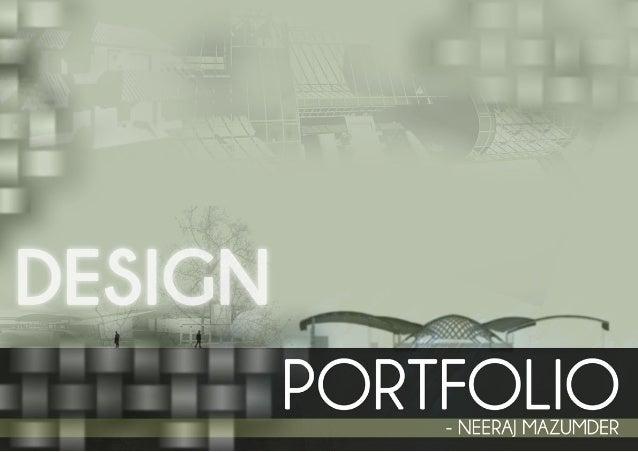 Undergraduate Architectural Design Portfolio. 1 ...