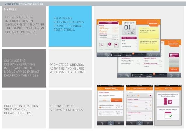 PORTFOLIO - Jorge Gomes -  UX & Interaction designer - 2013 Slide 3