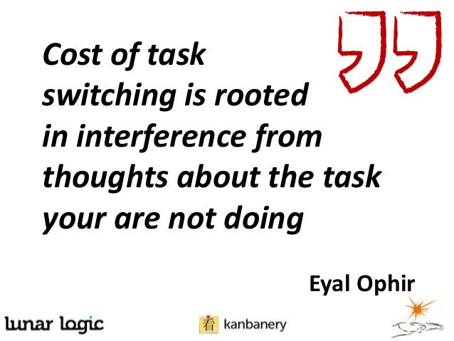Cost of taskswitching is rootedin interference fromthoughts about the taskyour are not doingEyal Ophir