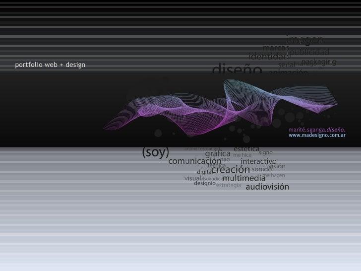 portfolio web + design