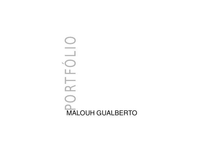 PORTFÓLIOMALOUH GUALBERTO