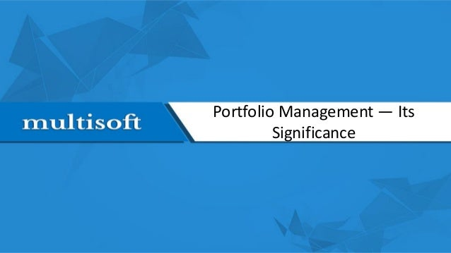 Portfolio management and its influences on