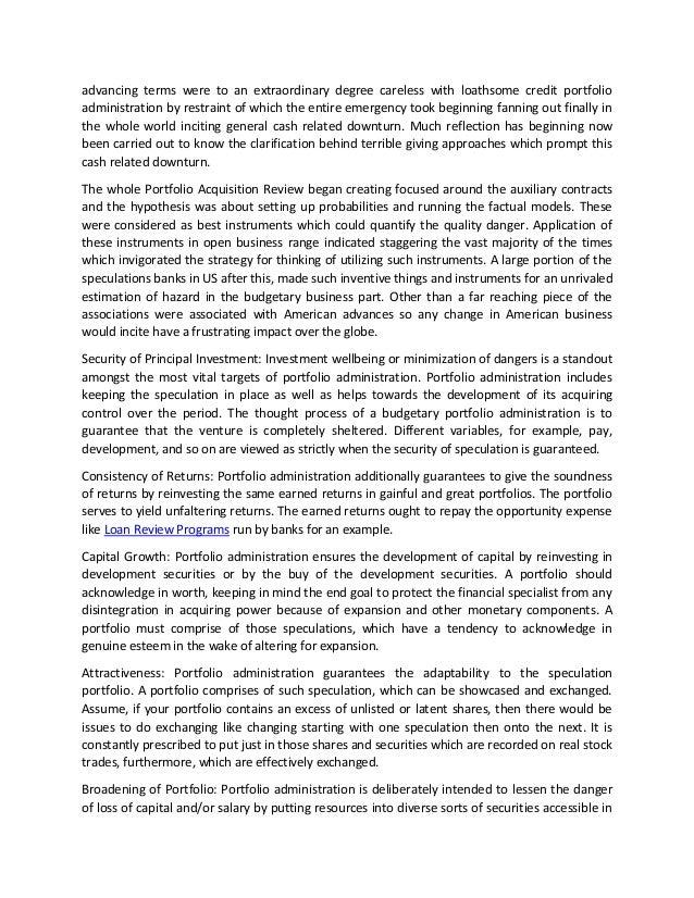 importance of portfolio management pdf