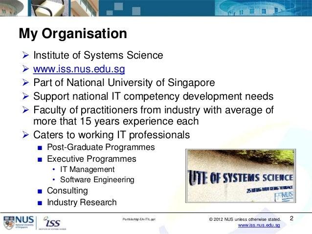 IT Portfolio Management Using Enterprise Architecture and ITIL® Service Strategy Slide 2