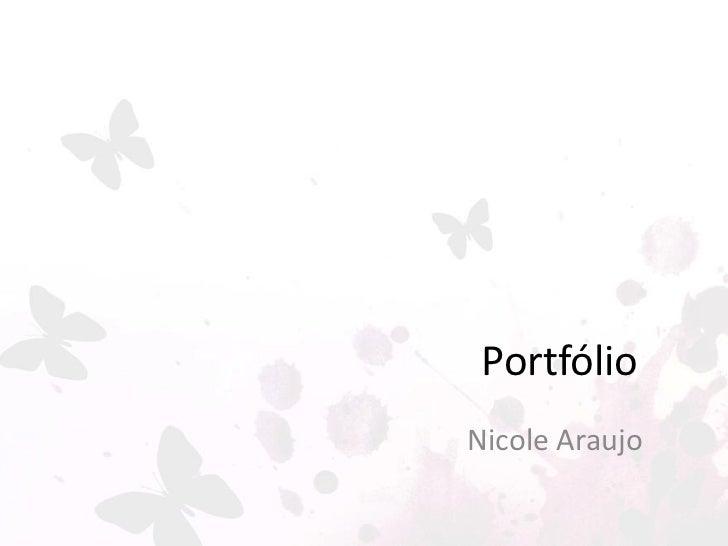 PortfólioNicole Araujo