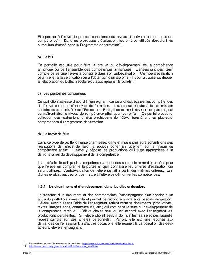 portfolio numerique