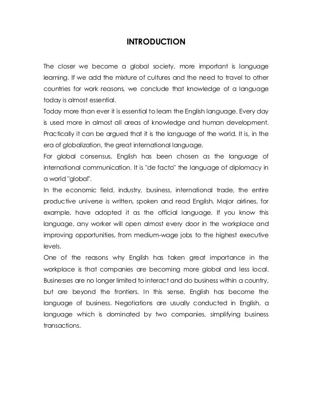 portfolio english intro Strong cover letter 12, 2001 portfolio committee english department it provides the reader with an introduction and insight 3 into my.