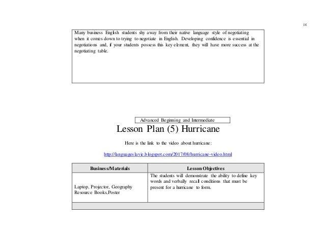 X Portfolio of lesson plans X