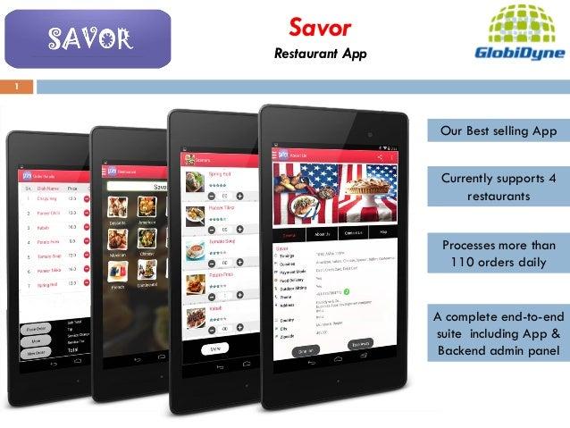 Mobile Apps ( restaurants, interior designers, real estate