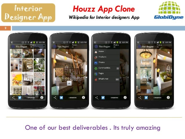 Mobile apps restaurants interior designers real estate