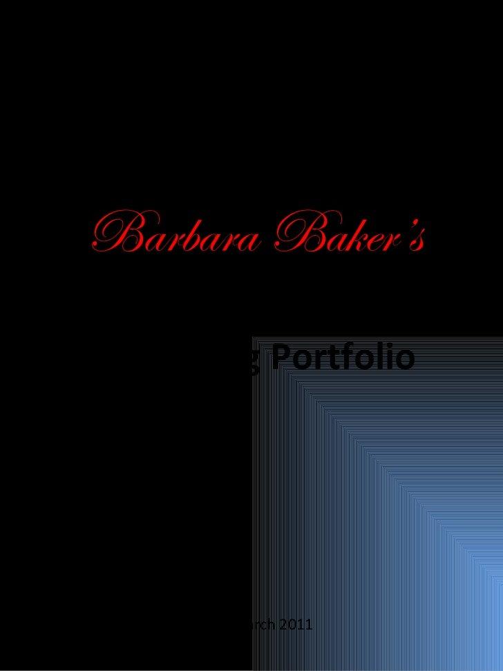 Modeling Portfolio Barbara Baker's Updated March 2011