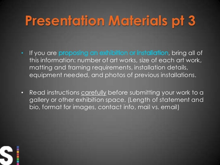 Preparing for an artist portfolio review or presentation br 12 stopboris Gallery