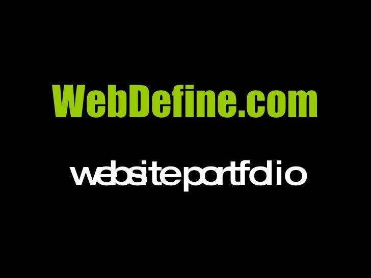 WebDefine.com website portfolio