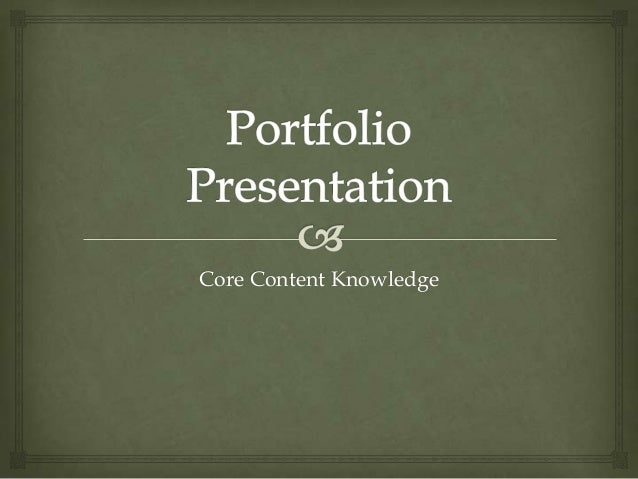 Core Content Knowledge