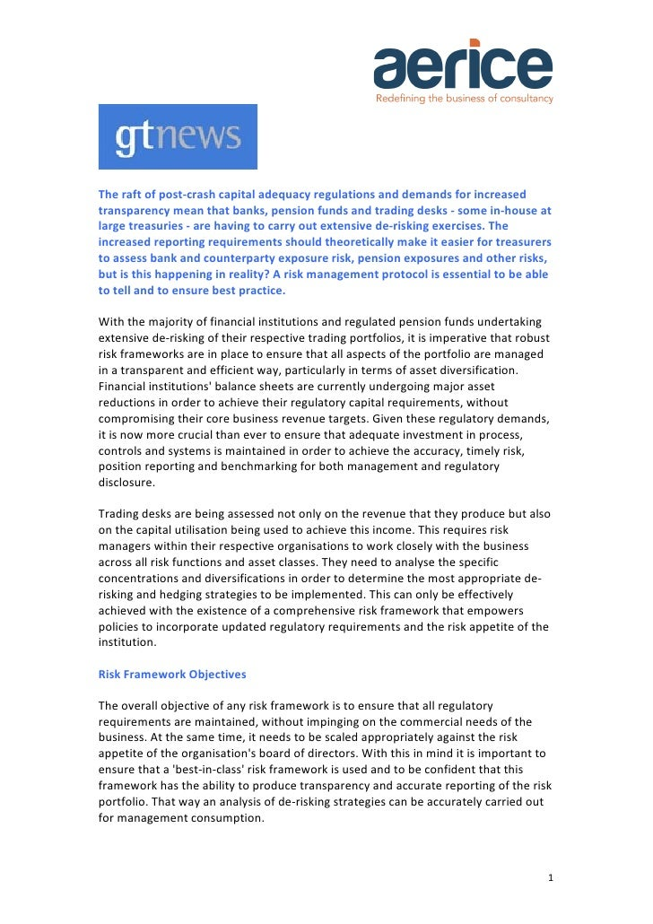 The raft of post-‐crash capital adequacy regulations and demands for increased transparency mean...