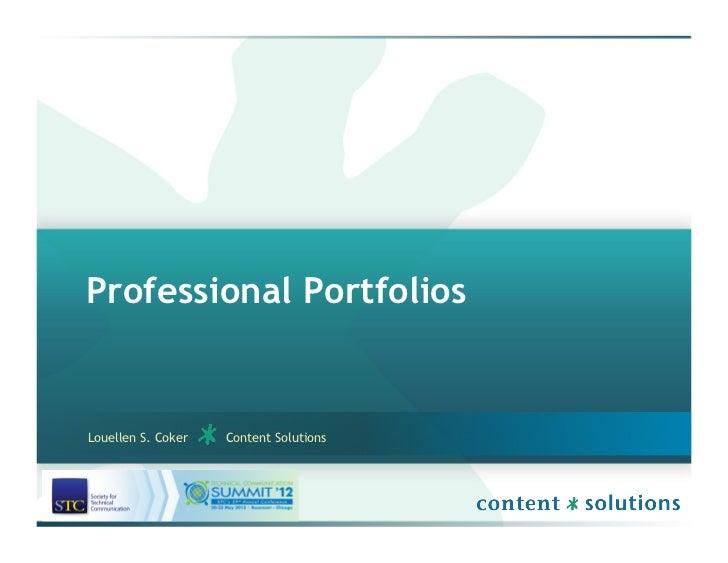 Professional PortfoliosLouellen S. Coker   Content Solutions