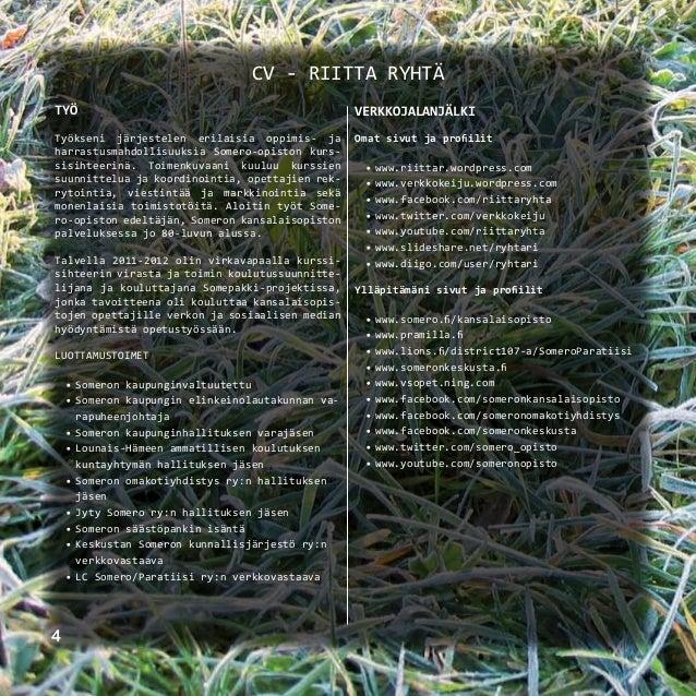 Portfolio | Riitta Ryhtä