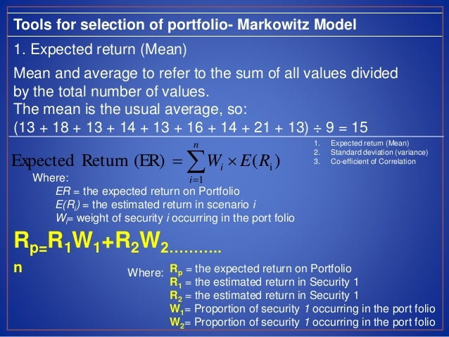 portfolio selection In this paper, optimal consumption and investment decisions are studied for an investor who has available a bank account paying a fixed rate of interest and a stock whose price is a log-normal diffusion this problem was solved by merton and others when transactions between bank and stock are costless here we suppose that there are charges on all transactions equal to a fixed percentage of.