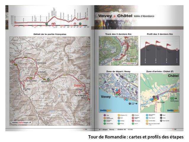 Tour de Romandie: cartes et profils des étapes