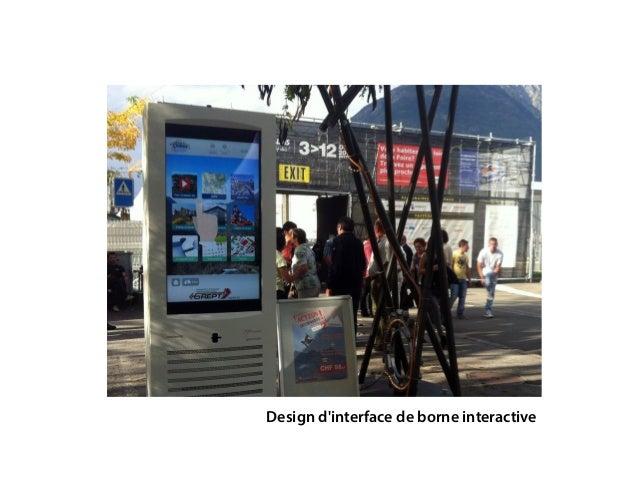 Design d'interface de borne interactive