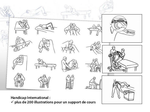 Handicap International:  plus de 200 illustrations pour un support de cours
