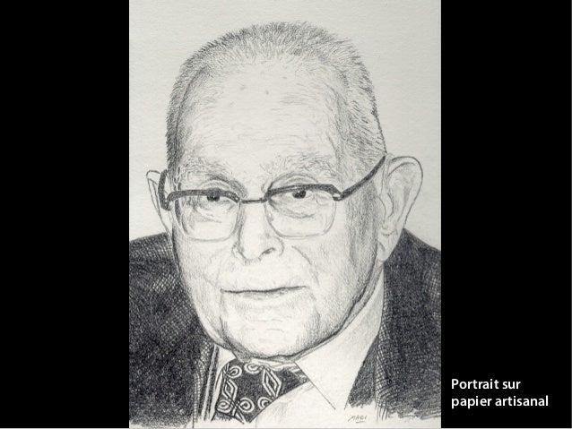 Portrait sur papier artisanal