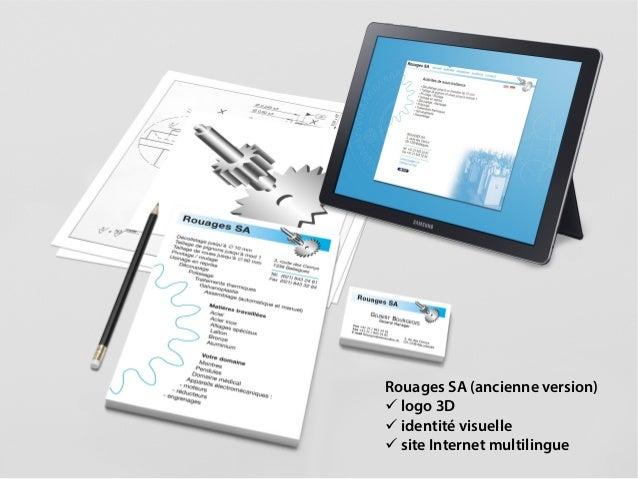 Rouages SA (ancienne version)  logo 3D  identité visuelle  site Internet multilingue
