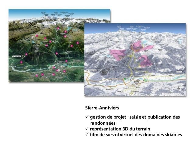 Sierre-Anniviers  gestion de projet: saisie et publication des randonnées  représentation 3D du terrain  film de survo...