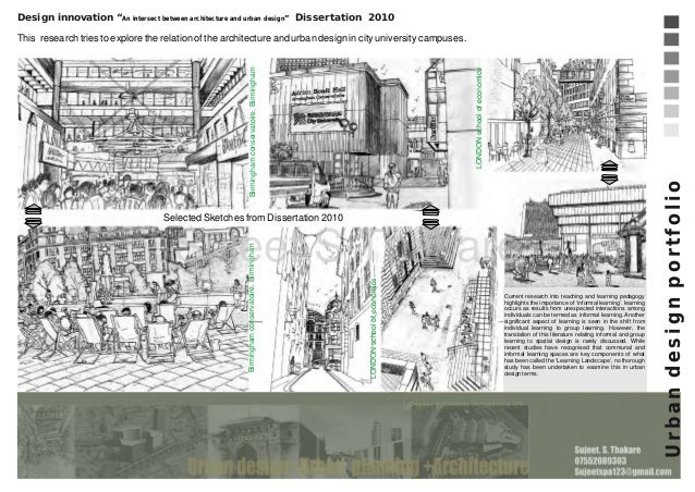 guidelines for preparing a masters design study proposal in urban design