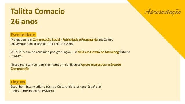 Portfolio - Talitta Comacio Slide 2