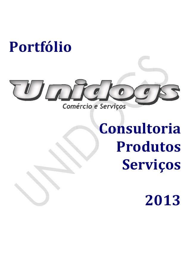 Portfólio Consultoria Produtos Serviços 2013