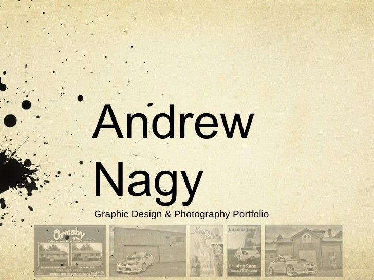 Andrew Nagy Graphic Design & Photography Portfolio