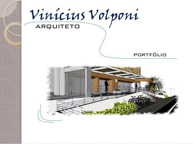 Vinícius Volponi arquiteto portfólio