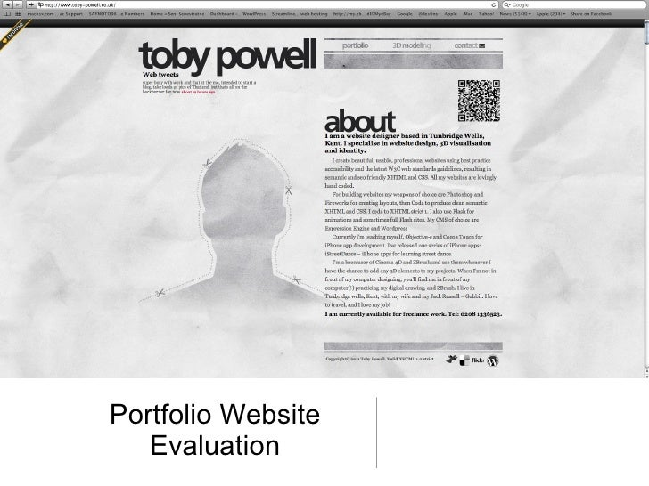 Portfolio Website Evaluation