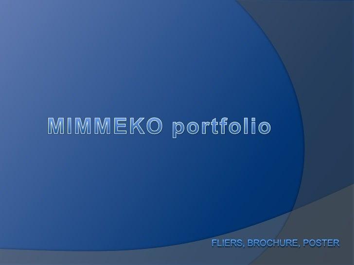 MIMMEKO portfolio