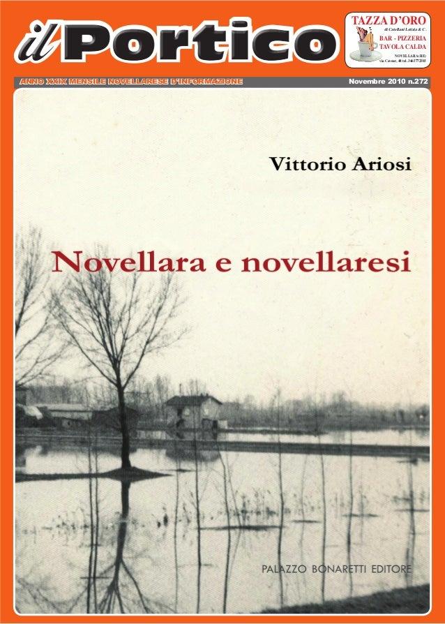 ANNO XXIX MENSILE NOVELLARESE D'INFORMAZIONE Novembre 2010 n.272 TAZZA D'OROdi Catellani Letizia & C. BAR - PIZZERIA TAVOL...