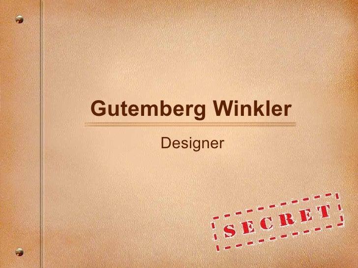 Gutemberg Winkler Designer