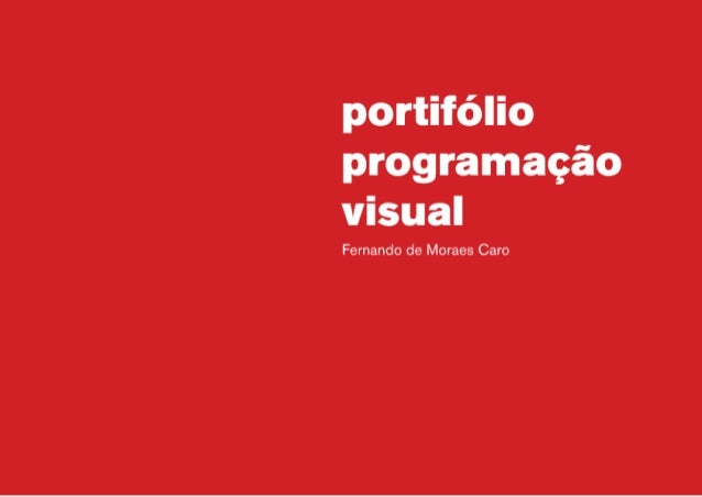 Portifólio Fernando Caro
